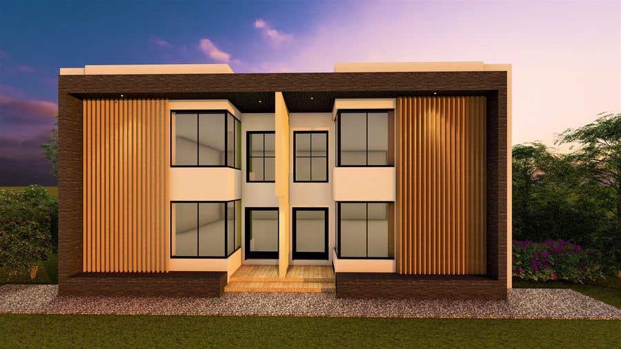 Penyertaan Peraduan #                                        10                                      untuk                                         Facade duplex house proposal desing