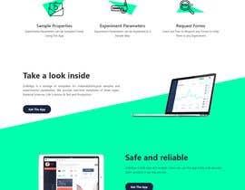 Nro 4 kilpailuun Simple single landing page to introduce a mini scientfic app käyttäjältä Manjur333