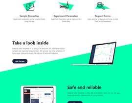 Nro 7 kilpailuun Simple single landing page to introduce a mini scientfic app käyttäjältä Manjur333