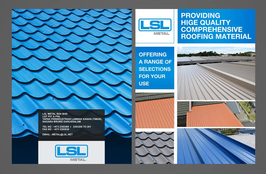Contest Entry #                                        32                                      for                                         Design a cover for high-end metal roof colour chart
