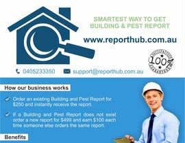 nº 29 pour Design a Flyer for our business www.ReportHub.com.au par creazinedesign