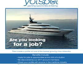 bojandjordjevic tarafından Design a Flyer for Yotspot (a superyacht recruitment company) için no 10
