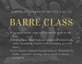 #16 for A4 POSTER FOR BARRE CLASS by Ellize2599