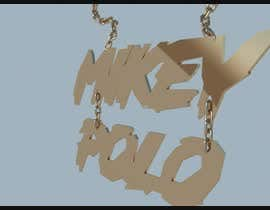 Nro 2 kilpailuun I need a 3D model rendering of a chain. We are looking for the verbiage MikeyPolo to be 3D as a chain pendant. käyttäjältä Nileshkrlayek