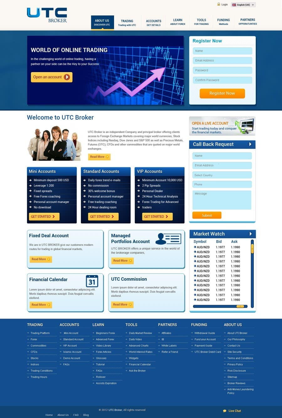 #14 for Design a Website Mockup for finance website by phpjoomlagroup