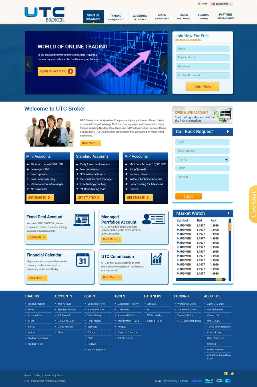 #20 for Design a Website Mockup for finance website by phpjoomlagroup