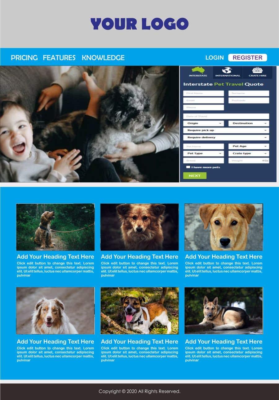 Kilpailutyö #                                        23                                      kilpailussa                                         Create a website mockup for a business that offers pet health certificates