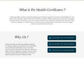 Nro 1 kilpailuun Create a website mockup for a business that offers pet health certificates käyttäjältä MohammedGameel