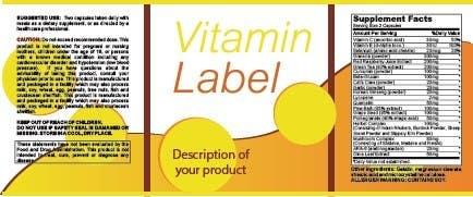 Penyertaan Peraduan #2 untuk Creating Vitamin Bottle Labels - Will pick 10 Winners