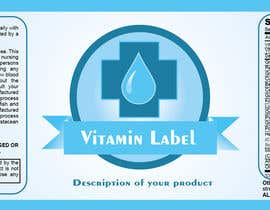 #60 para Creating Vitamin Bottle Labels - Will pick 10 Winners por preethamdesigns