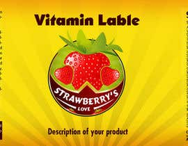 #6 untuk Creating Vitamin Bottle Labels - Will pick 10 Winners oleh deziner313