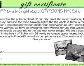 #18 for Design a Gift certificate fot a Hotel stay for 2 nights af Parnasus