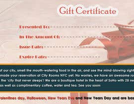 #13 for Design a Gift certificate fot a Hotel stay for 2 nights af POONAKHATRI