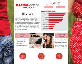 nº 8 pour Design a Dating Review Website par estheranino1
