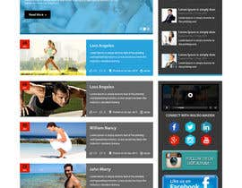 #28 for Design a Website Mockup for Fitness Health Site af xsasdesign