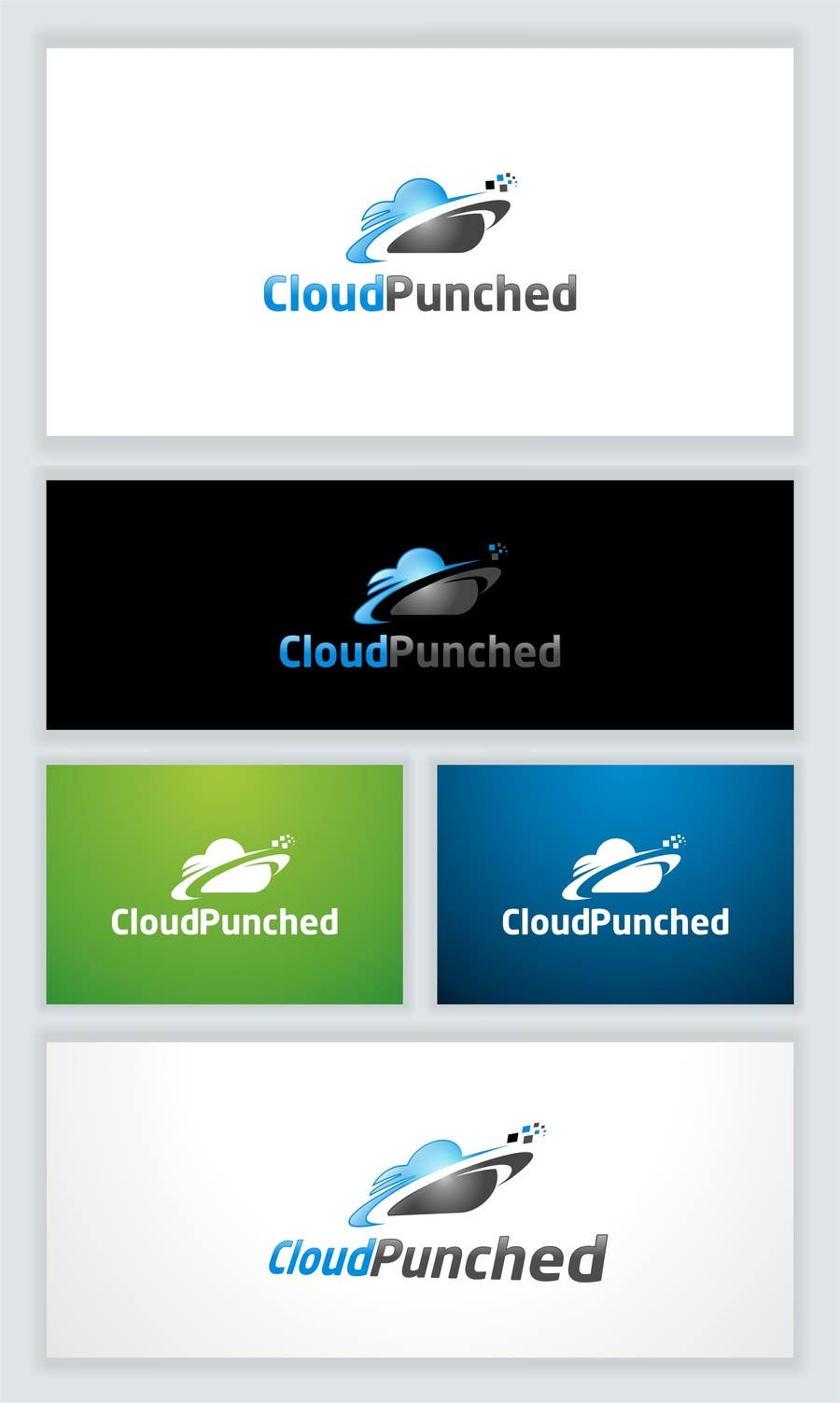 #186 for Design a Logo for Cloud Punched startup by OneTeN110