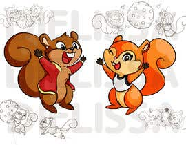 #23 for Design two squirrels cartoon characters for cookies brand by Dielissa