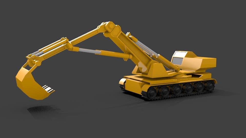 Konkurrenceindlæg #                                        1                                      for                                         3D illustration of a construction machine