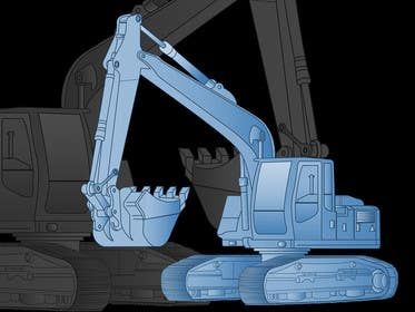 #16 cho 3D illustration of a construction machine bởi graphicdesign001