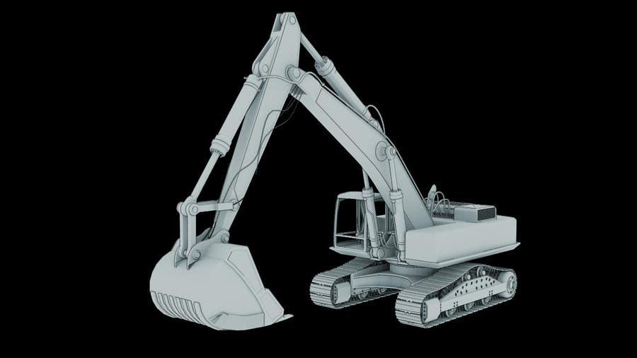 Konkurrenceindlæg #                                        5                                      for                                         3D illustration of a construction machine
