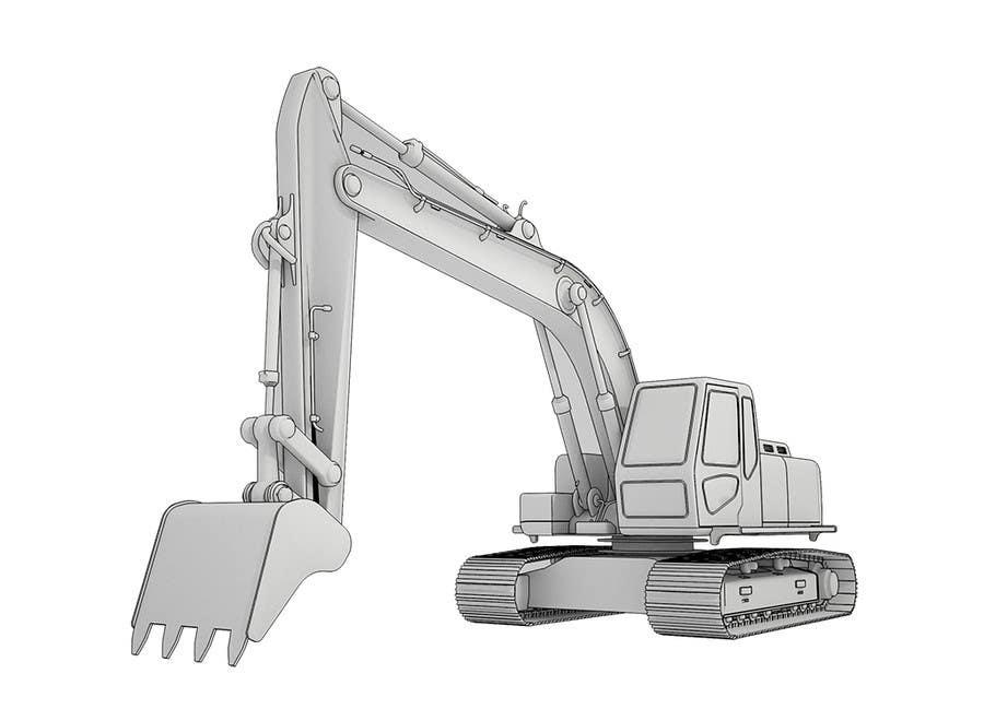 Konkurrenceindlæg #                                        27                                      for                                         3D illustration of a construction machine