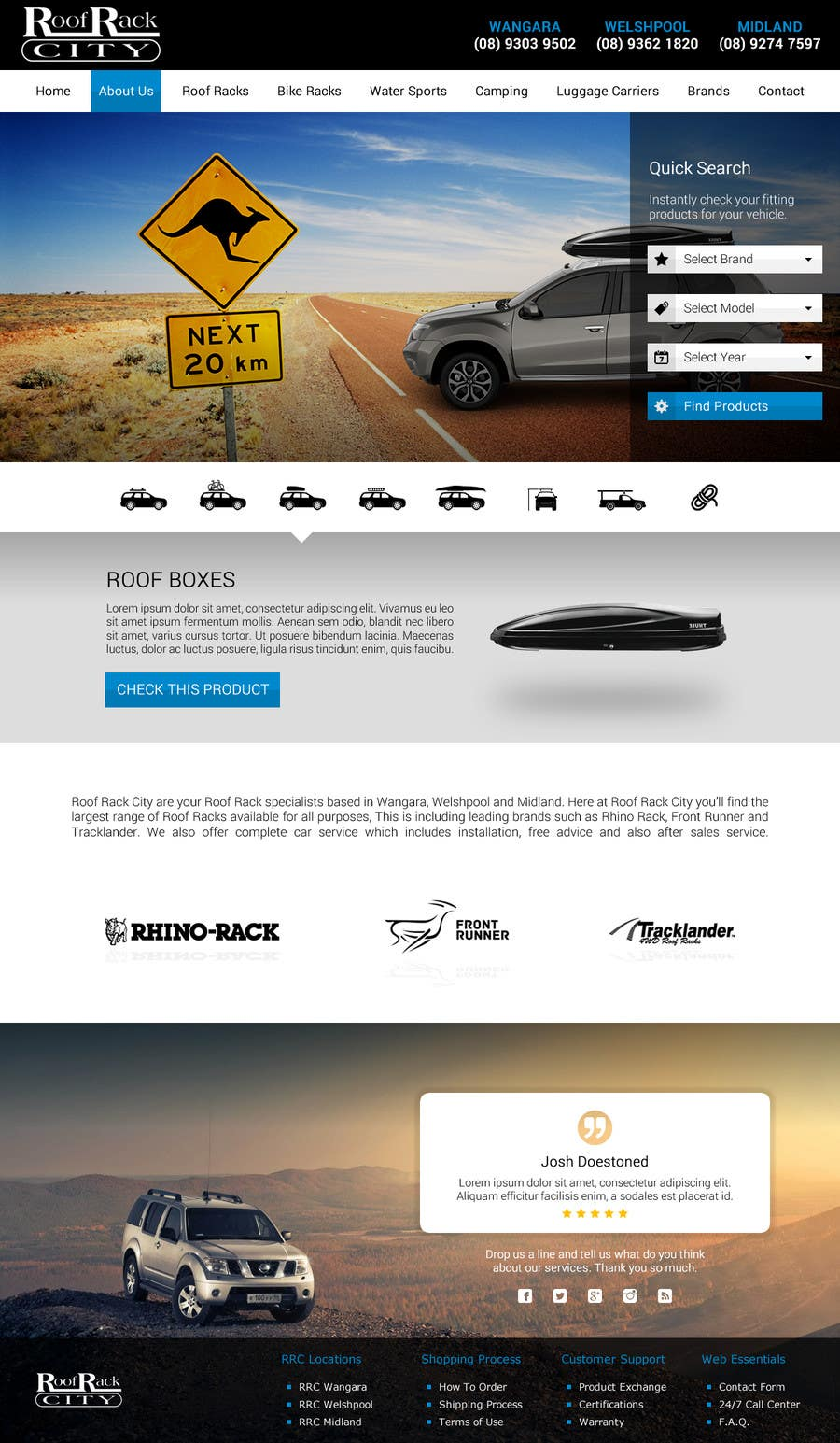 Contest Entry #15 for Design a Website Mockup for Roof Rack Co