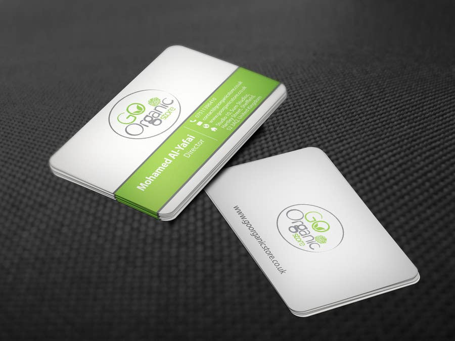 Konkurrenceindlæg #                                        61                                      for                                         Design some Business Cards for Go Organic Store