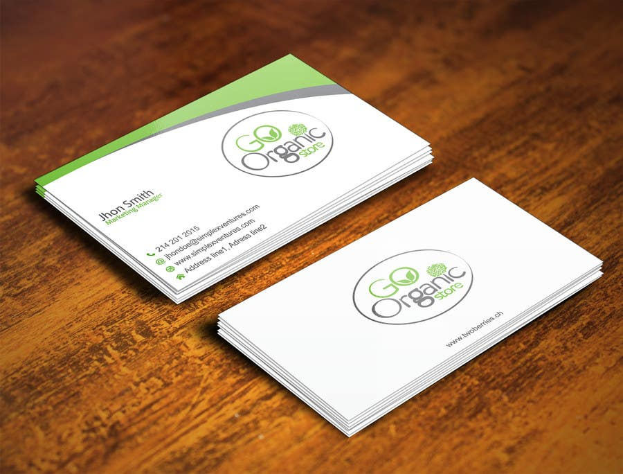 Contest Entry #                                        49                                      for                                         Design some Business Cards for Go Organic Store