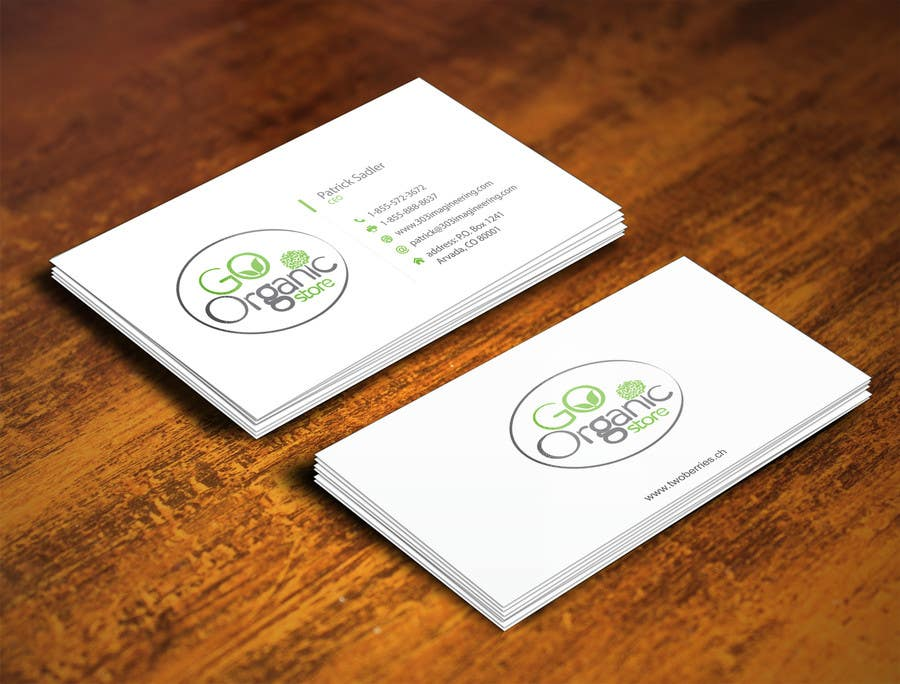 Konkurrenceindlæg #                                        50                                      for                                         Design some Business Cards for Go Organic Store