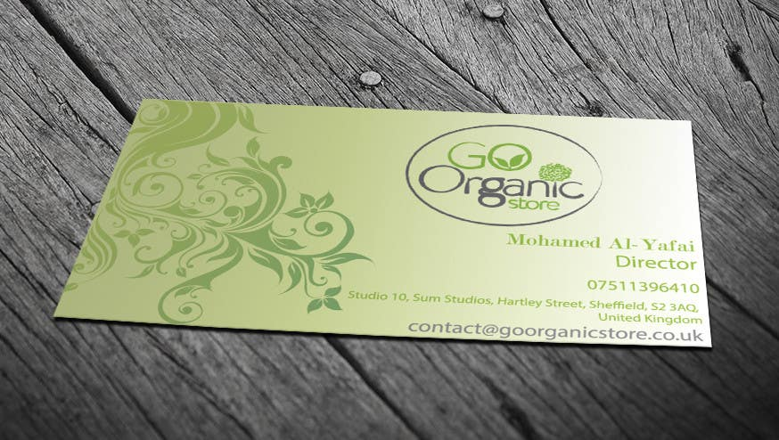 Contest Entry #                                        53                                      for                                         Design some Business Cards for Go Organic Store