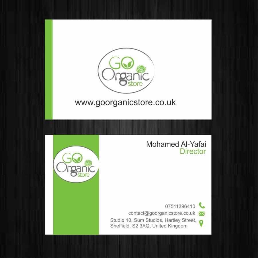 Konkurrenceindlæg #                                        38                                      for                                         Design some Business Cards for Go Organic Store