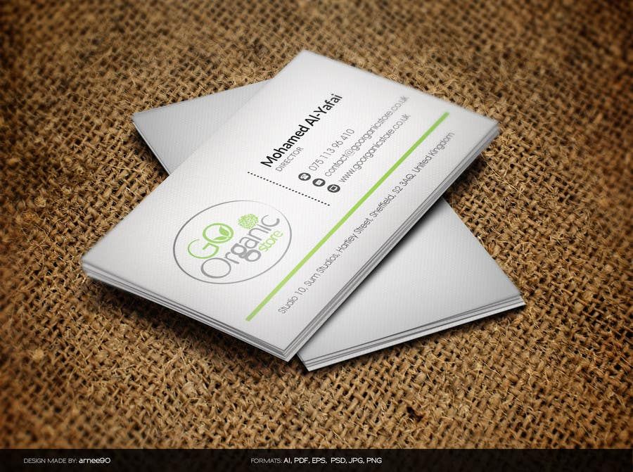 Contest Entry #                                        14                                      for                                         Design some Business Cards for Go Organic Store