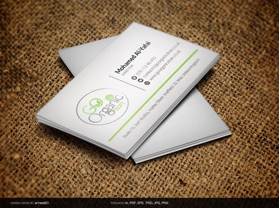 Konkurrenceindlæg #                                        14                                      for                                         Design some Business Cards for Go Organic Store