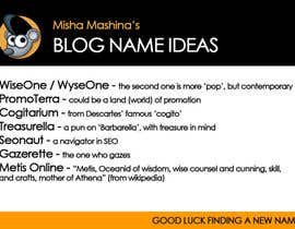#16 for Find a new name for a blog af MishaMashina