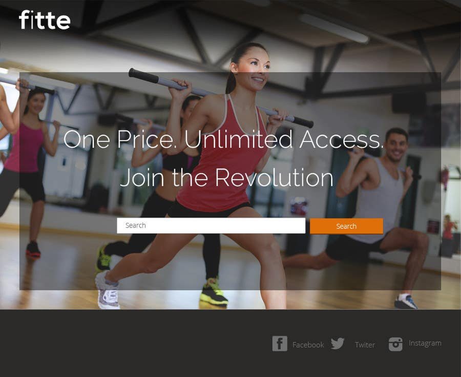 Contest Entry #                                        8                                      for                                         Design a Website Mockup for Fitness Business