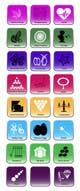 Contest Entry #                                                17                                              thumbnail for                                                 Design some Icons for Wholesale Crystal Website