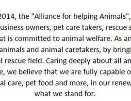 "#9 untuk Write a description of ""Alliance for Helping Animals"" oleh daniyalparveez95"