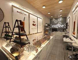 Nro 11 kilpailuun Interior and exterior Design for a coffee shop käyttäjältä Shuhadh