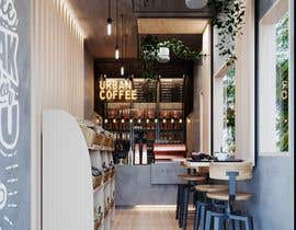 Nro 19 kilpailuun Interior and exterior Design for a coffee shop käyttäjältä RanaeinasabAzam