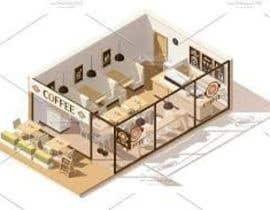 Nro 4 kilpailuun Interior and exterior Design for a coffee shop käyttäjältä khaqanzafar