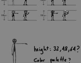 #51 for Create a unique pixel art stick figure character for 2D/3D comic and game series af v4f4t4