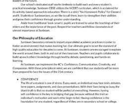 nº 44 pour Content Writing For CBSE SCHOOL website par Eli3425