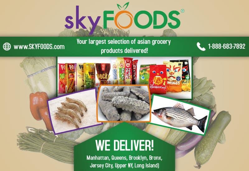 Konkurrenceindlæg #21 for Design a Flyer for asian online supermarket