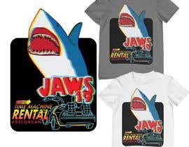 #12 untuk BAck to the future 2 JAws 19 Holographic Shark Tee Shirt Design oleh monfaji