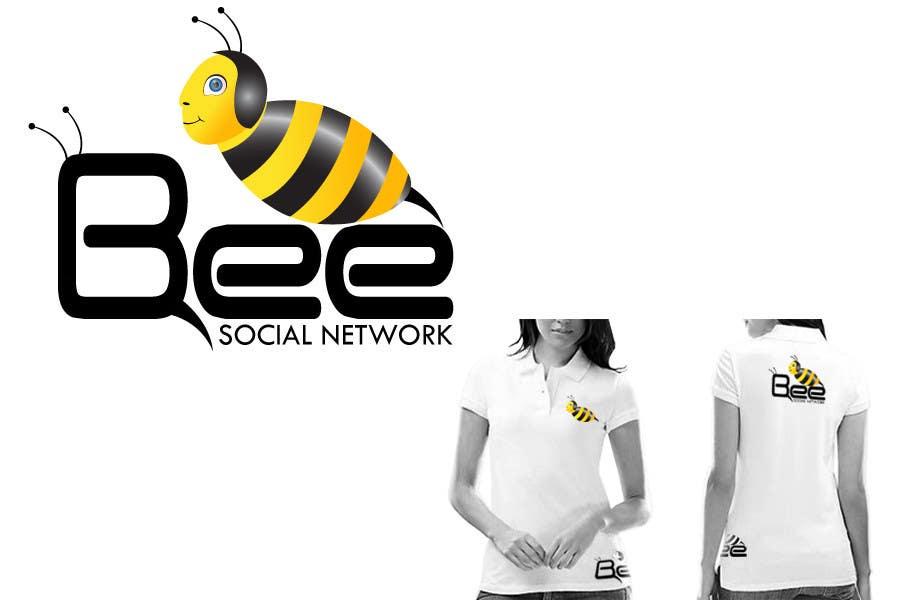 Kilpailutyö #205 kilpailussa Logo Design for Logo design social networking. Bee.Textual.Illustrative.Iconic