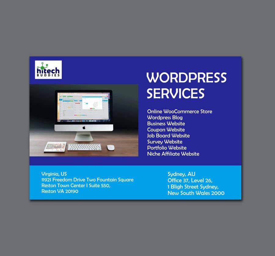 Kilpailutyö #                                        28                                      kilpailussa                                         Design a Facebook stunning post for wordpress services