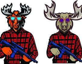 #111 para Undercover Moose Sticker por Hridu25