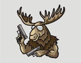 #96 för Undercover Moose Sticker av ura