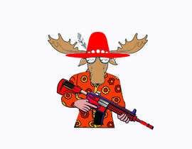 #103 para Undercover Moose Sticker por juelj807