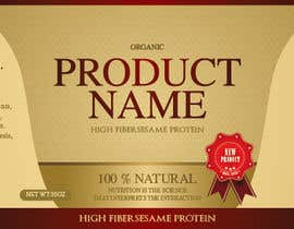 nº 27 pour Design a label for a nutritional product par madartboard
